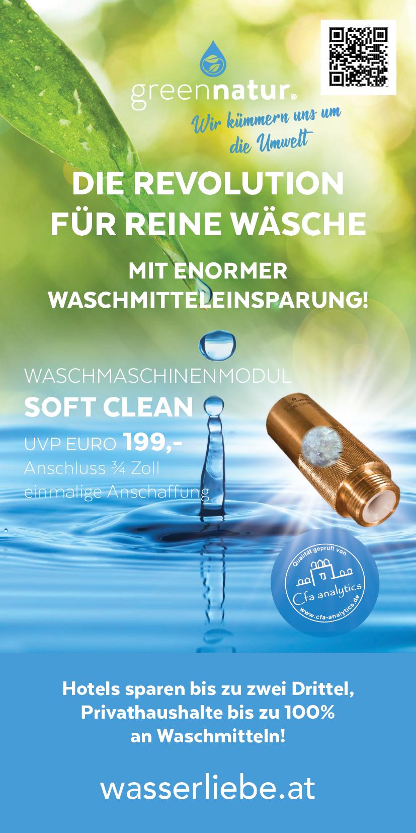 greennatur softclean wäsche waschen Waschmittel Persil Ariel Martina Still gesunde Seele Waschmodul Reinigung Umwelt Nachhaltig